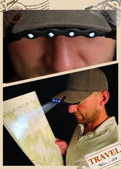 Nite Ize BMT-07-02 BrimLit : http://www.amazon.com/Nite-Ize-BMT-07-02-BrimLit/dp/B007CB7U8U/ref=sr_1_1?ie=UTF8&qid=1391567524&sr=8-1&keywords=BrimLit+LED 可隨意夾在帽子上, 在黑暗中給你一盞明燈~