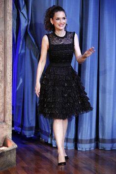 Winona Ryder in Rochas on 'Jimmy Fallon' | Tom & Lorenzo Fabulous ...