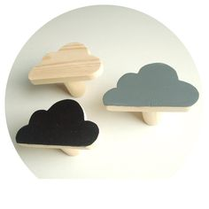 wooden wall hook - pine cloud hooks - hand painted decorative hooks - cloud hanger by CraftedPineCo on Etsy https://www.etsy.com/listing/219767226/wooden-wall-hook-pine-cloud-hooks-hand