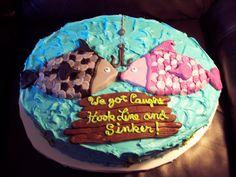 grooms cake, fishing theme by Jackie Willis