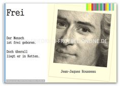 Zitate Poster Rousseau