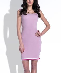 Pink Powder Ribbon Bodycon Dress