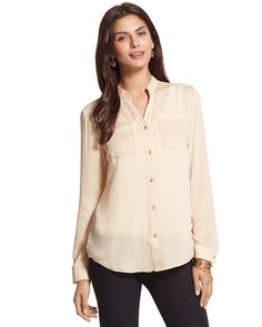 #chicossweeps A nice shade of pinkish gold button-down