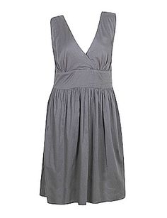 So solid grey blue dress by Blue Plate (plus size)