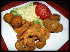 Fried Shrimp and Fried 'Shrooms