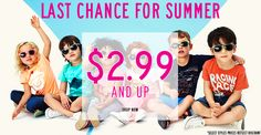 SALE STARTING AT 2.99 4 kids clothes!