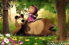 We've curated an amazing collection of Masha and The Bear goodies & toys, including some images, GIF, videos, transparent PNGs and other cool findings. Mickey Mouse Wallpaper, Bear Wallpaper, Cute Disney Wallpaper, 4th Birthday Cakes, Bear Birthday, Masha Et Mishka, Marsha And The Bear, Bob Marley Art, Bear Gif