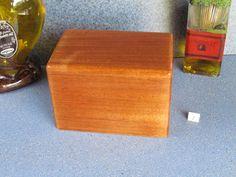 mahogany recipe box! also comes in cherry, walnut, teak, etc.