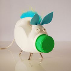 cheery Pig by steven wine This upcycled detergent bottle has found a new -and much more glamorous- life as a whimsical nightlight. Your dreams will be so much more fabulous when you have this cute critter next to your bed. Great for kids' room