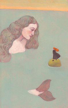 Mermaid Ocean Woman Art by Pierre Mornet