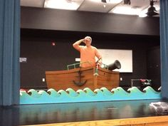 ship, cannon, 'movable' waves for Little Mermaid