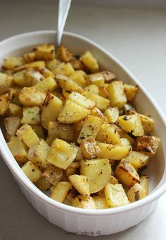 Oven Roasted Ranch Potatoes - a deliciously simple side dish More