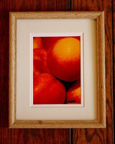 Nectarines in a New Blonde Wood Frame by MuttiArtography on Etsy, $27.50