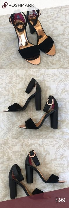 """Ted Baker Black """"Secoa"""" Ankle Strap Sandals Worn twice! Essentially brand new! Fits 7-7.5. Ted Baker Shoes Sandals"""