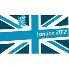 Price: $15.98 - London 2012 Olympics Logo Giant Flag - TO ORDER, CLICK ON PHOTO