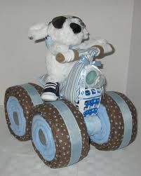 Tricycle Diaper cake~All diapers are reusable