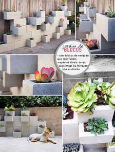 Ideias para usar blocos de concreto fora do lugar comum …