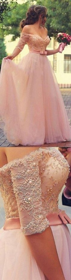 A-line Lace Sweetheart Long Prom Dresses, Sexy Prom Dresses, Foraml Dresses