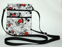 Handmade Fabric Wallet Crossbody Bag by TwistedThreadsQuilts