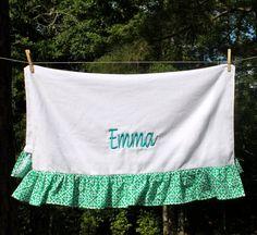 Ruffled Beach Towels by PolkaDotWellies on Etsy