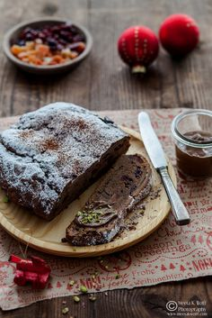 Chocolate Gianduia Stollen With Cranberries and Papaya  . Just wicked (Recipe and photo by Meeta K. Wolff)