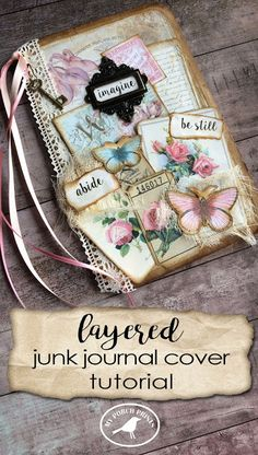 vintage junk Journal gratitude book Shabby Journal gift idea recycled eco friendly journal