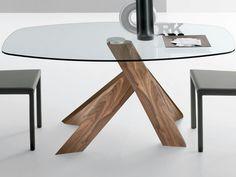 Téléchargez le catalogue et demandez les prix de Elipse By italy dream design, table de salon en noyer