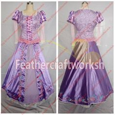 Disney Tangled Rapunzel Cosplay Costume by feathercraftworksh