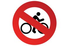 Printable Cycling Road Signs No Entry Bicycles beyond this point PDF Files
