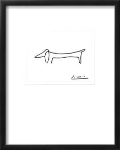 The Dog Art Print by Pablo Picasso at Art.com