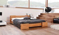 Pat din lemn masiv de fag TI Low natural #lemnmasiv #interiordesign #mobilier Modern Minimalist Bedroom, Minimal Bedroom, Nordic Bedroom, Bedroom Styles, Outdoor Furniture, Outdoor Decor, Minimalism, Toddler Bed, Bedroom Decor