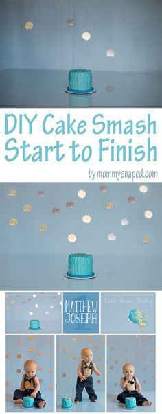 Step by step instructions on how to do a DIY cake smash. Including a great tutorial on how to edit the photos from awful to WOW!