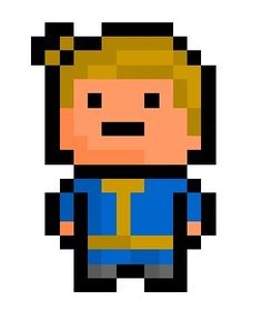 "Vault Boy, the coiffeured mascot for much-beloved nuclear shelter company ""Vault - Tec"" and background star of the ""Fallou..."