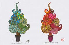 Free printable christmas trees, to and from card, flowers and...