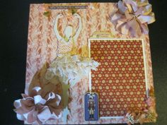 12 X 12 layout using graphic 45 nutcracker sweet paper & laser chipboard by Gina's Designs
