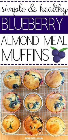 Flourless Healthy Blueberry Muffins Made With Almond Meal - Keto Friendly and Kid Approved muffins muffins healthy healthy kids healthymuffins recipes herzhaft kinder kindergeburtstag rezept rezept einfach Almond Flour Muffins, Healthy Blueberry Muffins, Almond Flour Recipes, Blue Berry Muffins, Almond Meal Muffin Recipe, Almond Meal Cake, Coconut Flour, Almond Bread, Almond Cookies