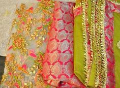 Fabric: Net Hand embroided Bottom: Brocade Dupatta: Chiffon with lace Whatsapp India: +917379262288 Whatsapp UAE: +971561135100 Price: 4500 RS + Shipping CASH ON DELIVERY within 8-10 days after order confirmation Made in Pakistan
