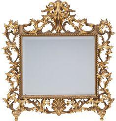 Un estilo barroco tallado dorado de madera del espejo, alrededor del año 1860. 30-1 / 2 pulgadas de alto x 29-1 / 2 pulgadas de ancho (77,5 x 74,9 cm). ... Wood Mirror, Baroque Fashion, Art Decor, Home Decor, Auction, Carving, Antiques, Mirrors, Frame