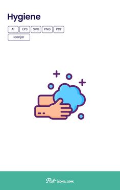 Flat Design Icons, Flat Icons, Icon Design, Personal Hygiene, Icon Pack, Icon Font, Vector Icons, Pdf, Social Media