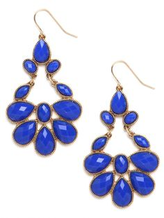 love these bright chandelier earrings