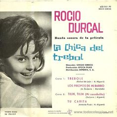 Discos de vinilo: ROCIO DURCAL DEL FILM LA CHICA DEL TREBOL EP SELLO PHILIPS AÑO…