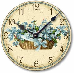 Special Offers - Item C6015 Shabby Chic Victorian Style 10.5 Inch Forget Me Nots Clock - In stock & Free Shipping. You can save more money! Check It (May 15 2016 at 04:08AM) >> http://wallclockusa.net/item-c6015-shabby-chic-victorian-style-10-5-inch-forget-me-nots-clock/