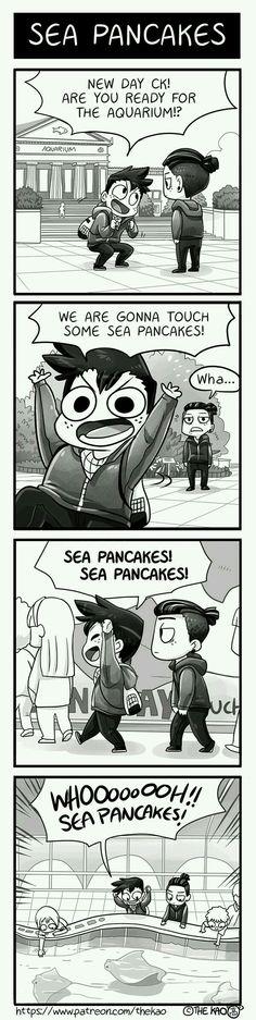 Sea Pancakes me lol The Awkward Yeti, 4 Panel Life, Funny Comic Strips, Online Comics, Funny Memes, Jokes, Me Anime, Short Comics, Fun Comics
