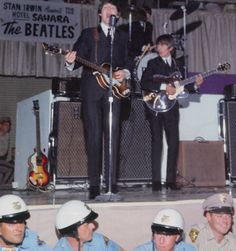 The Beatles& concert in Las Vegas, 20 August Scanned from & Beatles: Then There Was Music& by Tim Hill. Beatles Guitar, Beatles Band, John Lennon Beatles, The Beatles Live, Lennon And Mccartney, Beatles Photos, My First Crush, The Fab Four, British Invasion