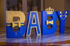 How cute are this letters for a Little Prince Baby Shower.