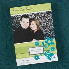 Save the Date Photo Ideas - Wedding - Dimensional Flowers of Love Save the Date Card