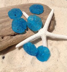 sea glass bead,beach glass,drilled glass,sea glass jewelry,2 pcs (21 x 19 mm) earring size- Glass-Supplies,Wholesale beads,findings,glass