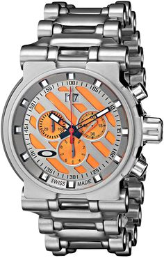 6c2388573d8 Oakley Men s 10-047 Hollow Point Orange Dial Watch Dream Watches