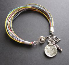multi colour cords & chunky charms
