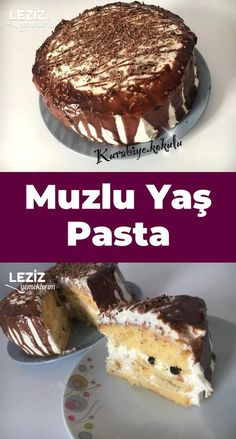 Banana Age Pie – My Delicious Food - Pastry Banana Dessert Recipes, Breakfast Recipes, Turkish Sweets, Meat Appetizers, Bbq Meat, Fish And Meat, Fresh Fruits And Vegetables, Confectionery, Italian Recipes